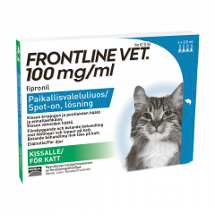 FRONTLINE VET 100 mg/ml paikallisvaleluliuos 4x0,5 ml