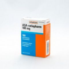 ASA-RATIOPHARM 100 mg enterotabl 100 fol